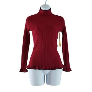 🆕️ Jon & Anna Burgundy Ribbed Sweater